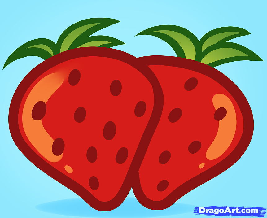 Drawn strawberry strawberry fruit Pop kids Step how Step