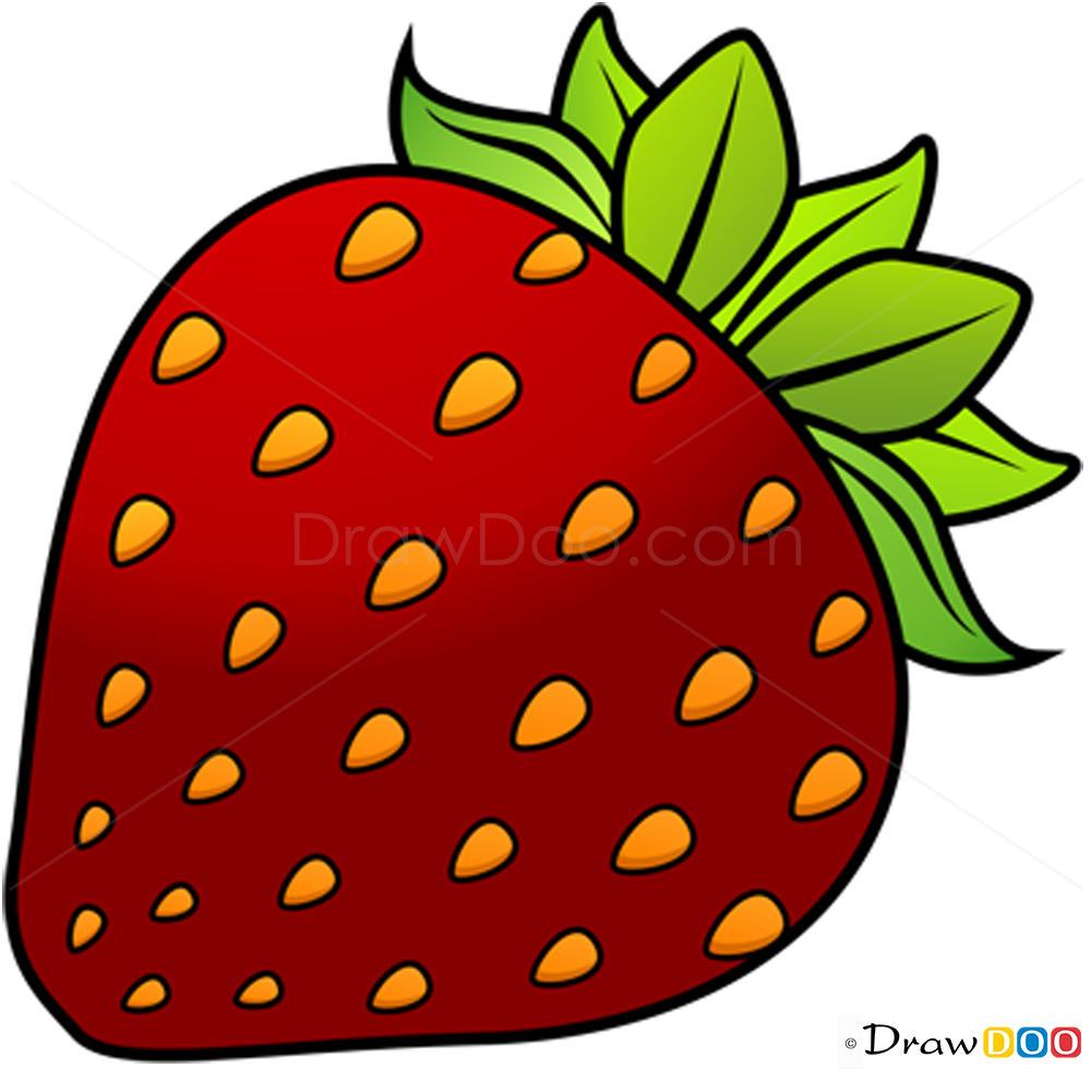 Drawn strawberry strawberry fruit Fruits How Strawberry Draw to