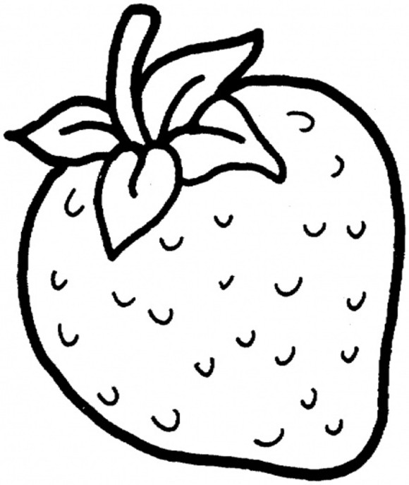Drawn strawberry strawberry fruit  With Free  Coloring