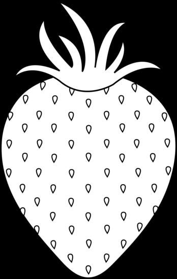Black clipart strawberry White Clip Strawberry Free Black