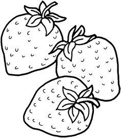 Drawn strawberry strawberry line Strawberries I VERDURES Three super