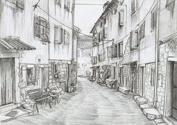 Drawn wallpaper sketch Sketch : Pencil Street Hand