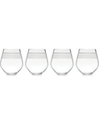 Drawn stripe kate spade Glasses 4 Set Miss of