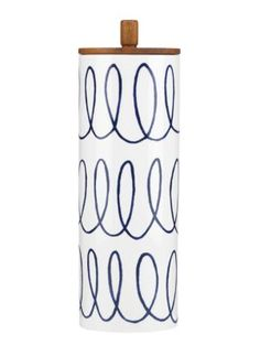 Drawn stripes York charlotte new spade canister