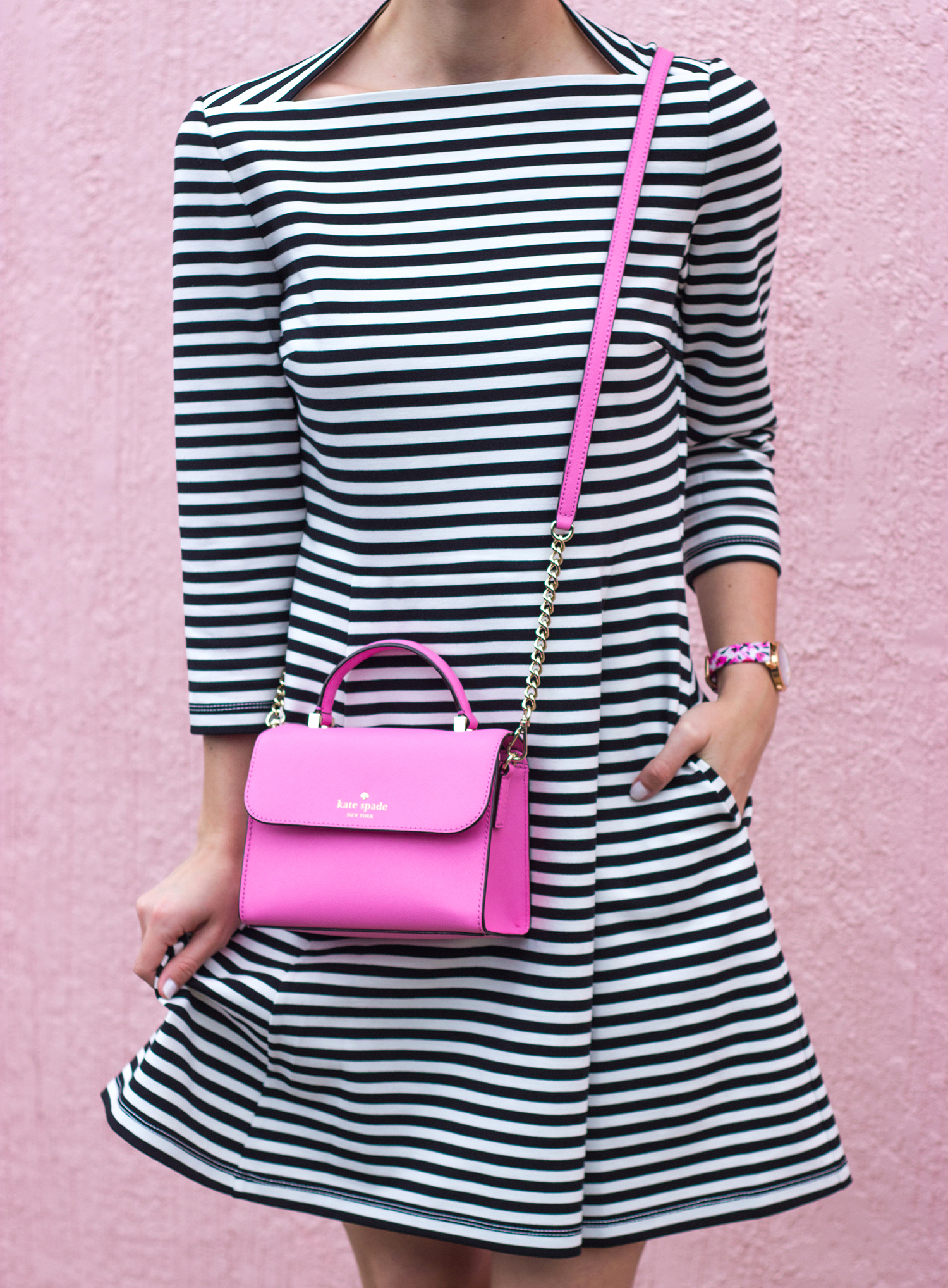 Drawn stripe Kate austin Tee Ways blogger