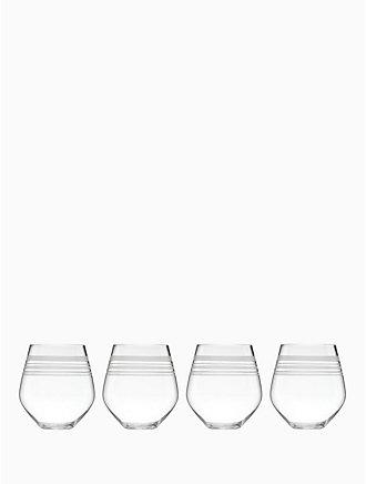 Drawn stripe Dining stemless Barware Flatware glasses