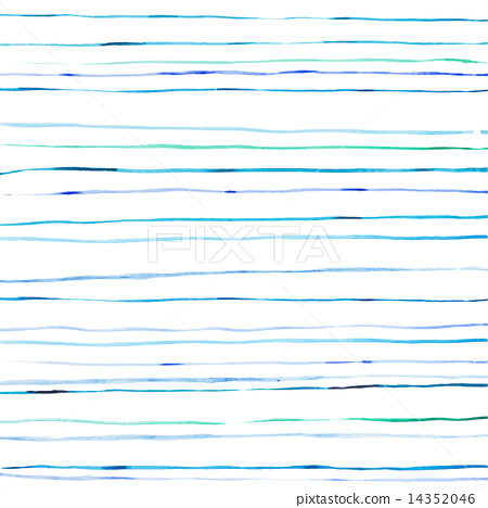 Drawn stripe Blue lines watercolor hand Vector