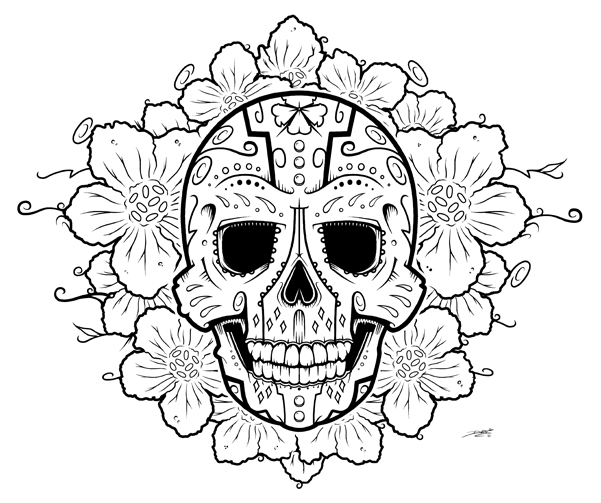 Drawn sugar skull Drawing Art Sugar Drawing Realistic
