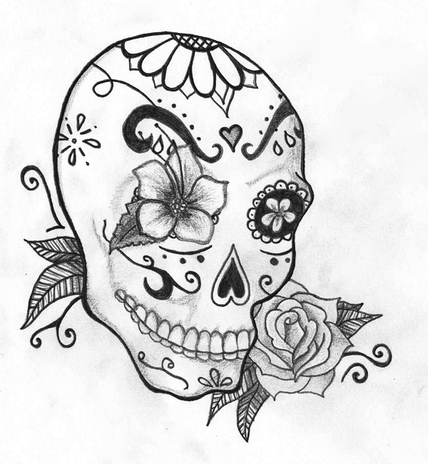 Drawn sugar skull By by Julianne26 on Skull