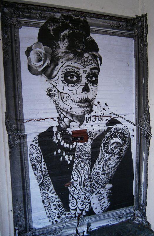 Drawn sugar skull audrey hepburn Is best muertos skull Sugar