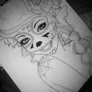Drawn sugar skull creepy Skull WIP WIP Skull Sugar