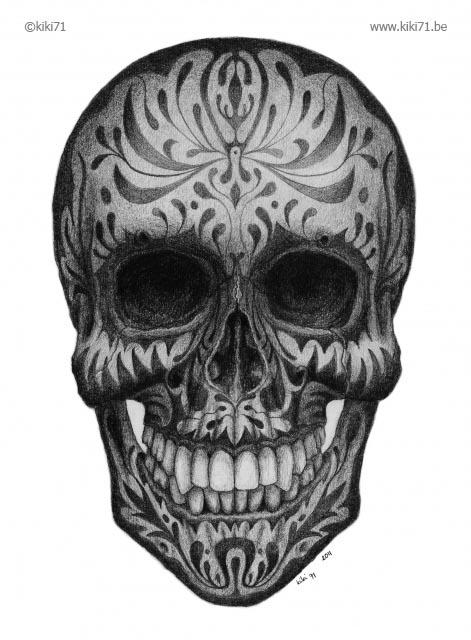 Drawn sugar skull creepy This  creativeboysclub We com