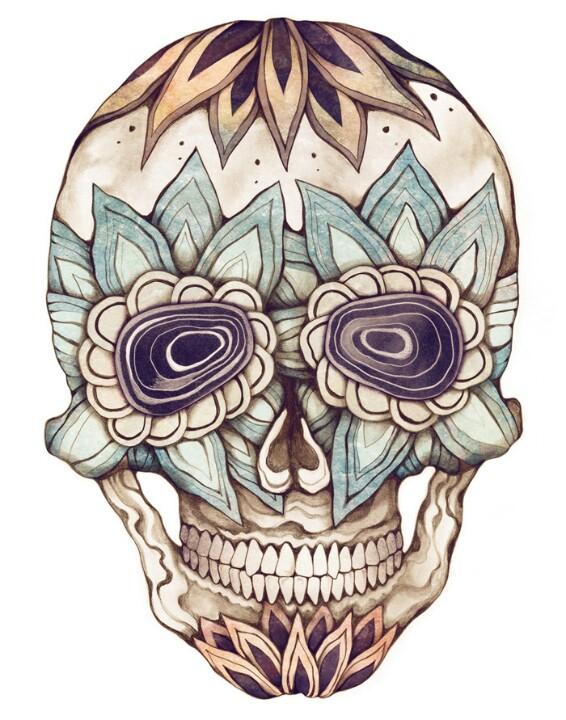 Drawn sugar skull creepy Skull Drawing Drawing Sugar Skull