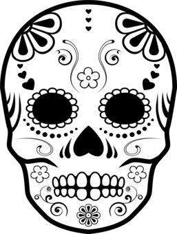 Drawn sugar skull dia de los muertos Skull los # Sugar on