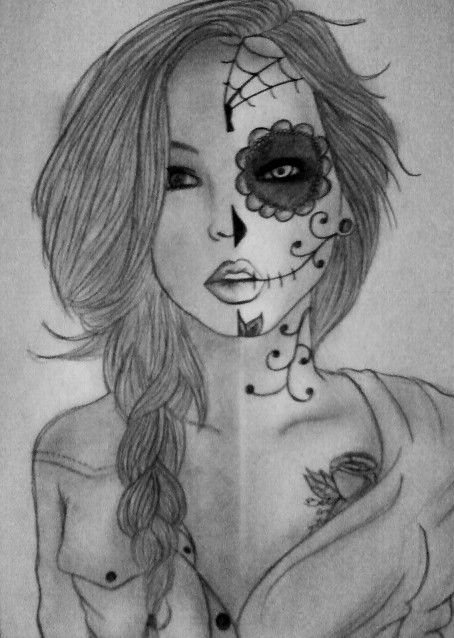 Drawn sugar skull girly Best 24 Projects on Pinterest