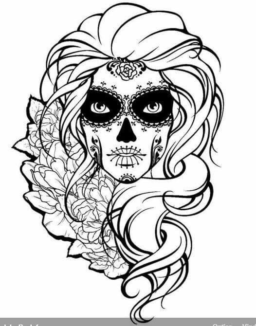 Drawn sugar skull scull  Sugar Skull Sugar 20+