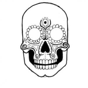 Drawn sugar skull step by step How a a step Step