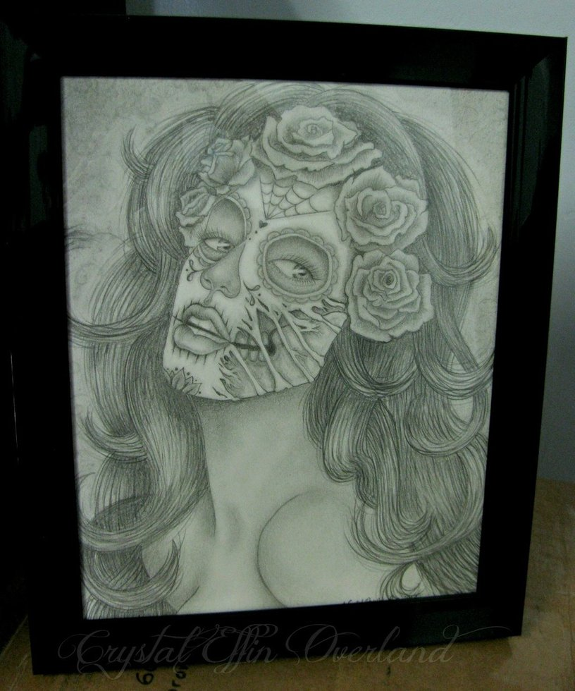 Drawn sugar skull zombie Zombie by CrystalEffinOverland Pinup Pinup
