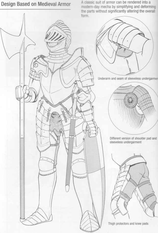 Drawn amour medieval Joshua Robots Draw Parts Armor