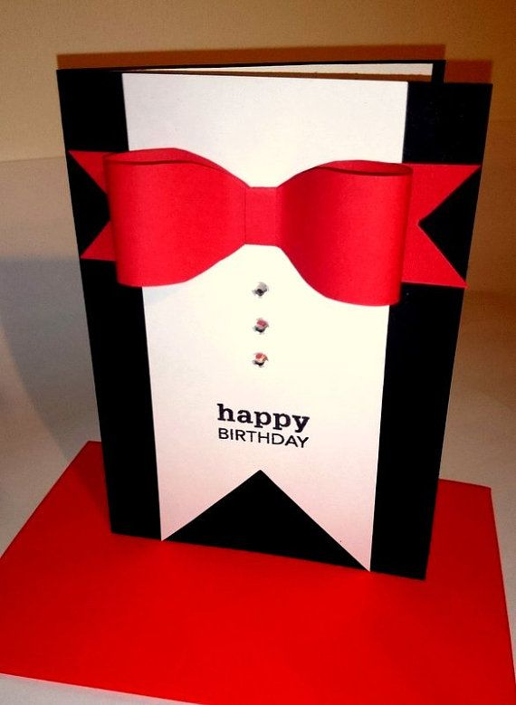 Drawn suit bday Card male Best for Pinterest