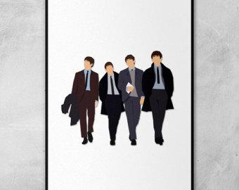 Drawn suit bday Lennon Their Card Minimal Paul