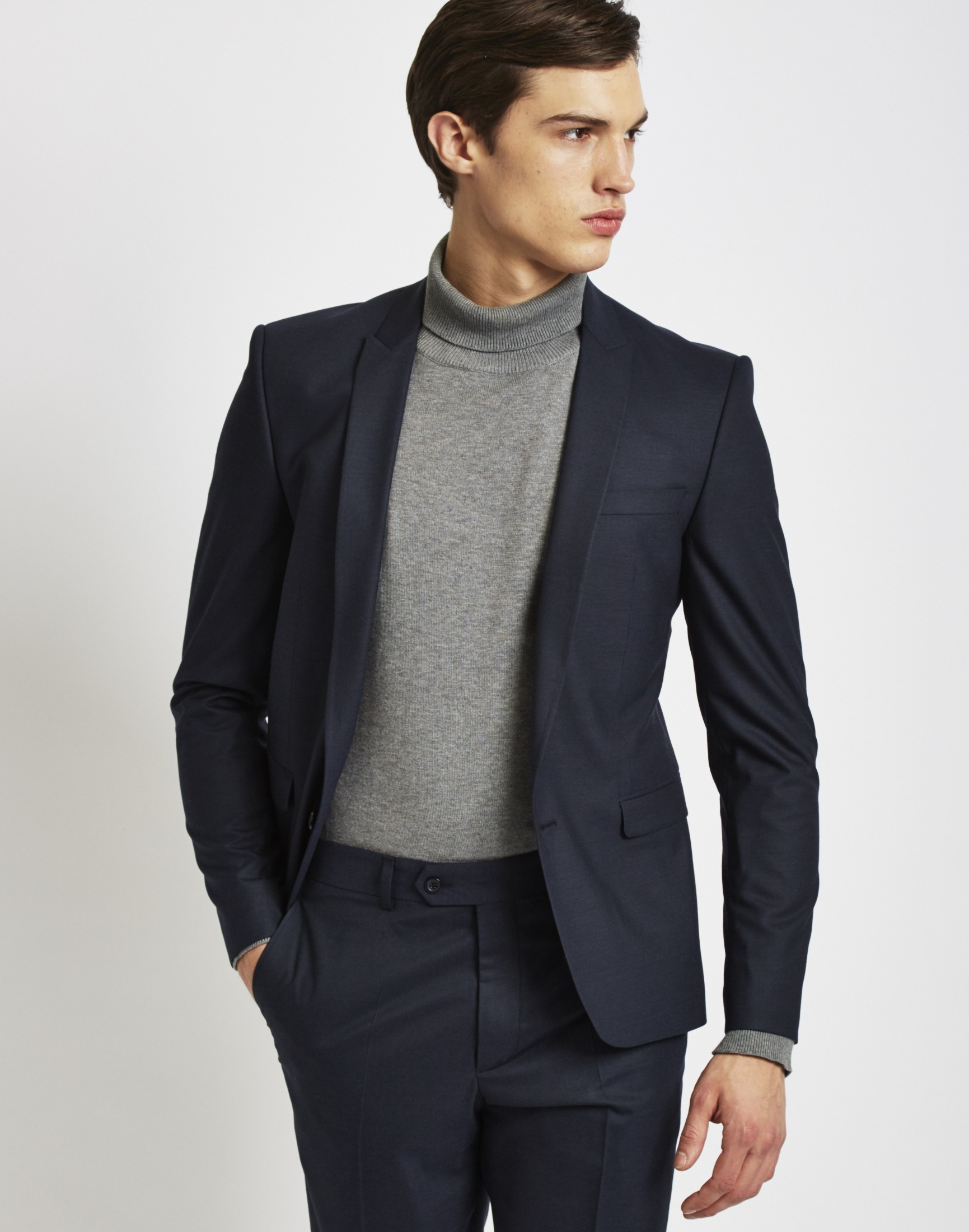 Drawn suit classic navy Jacket Ways Wear Fit The