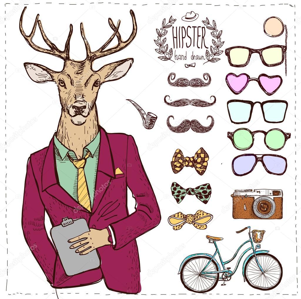 Drawn suit hipster Iriskana — Vector suit Vector