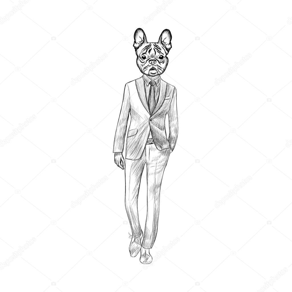 Drawn suit hipster © Suit Stock Suit #64060427
