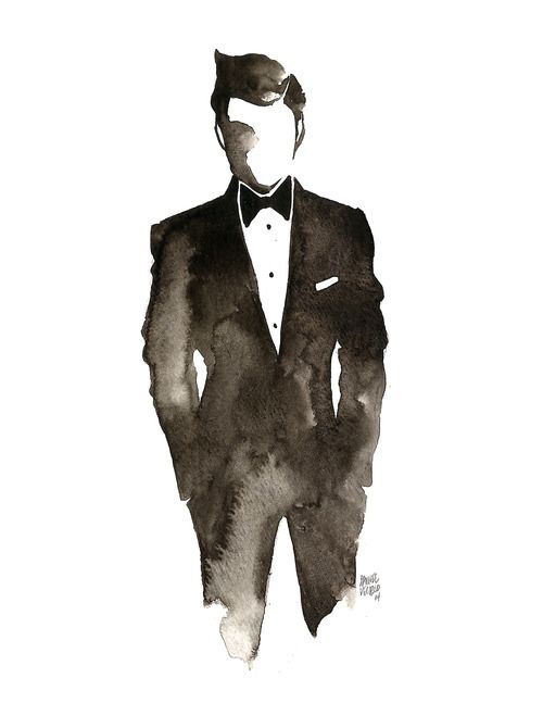 Drawn suit illustration 25+ Pinterest Drawings thegentlemanclub www