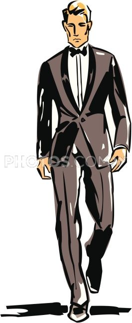 Drawn suit illustration Tie Pinterest best Bow And