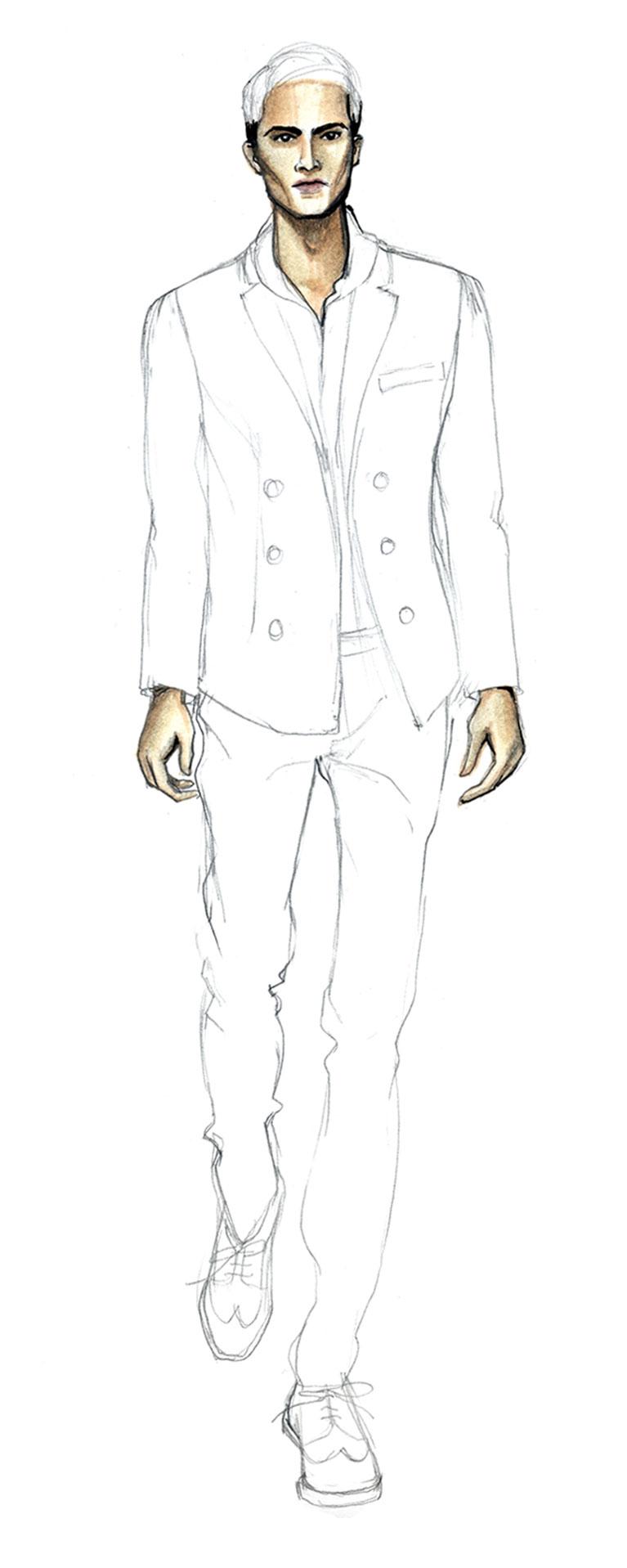 Drawn shoe male #2