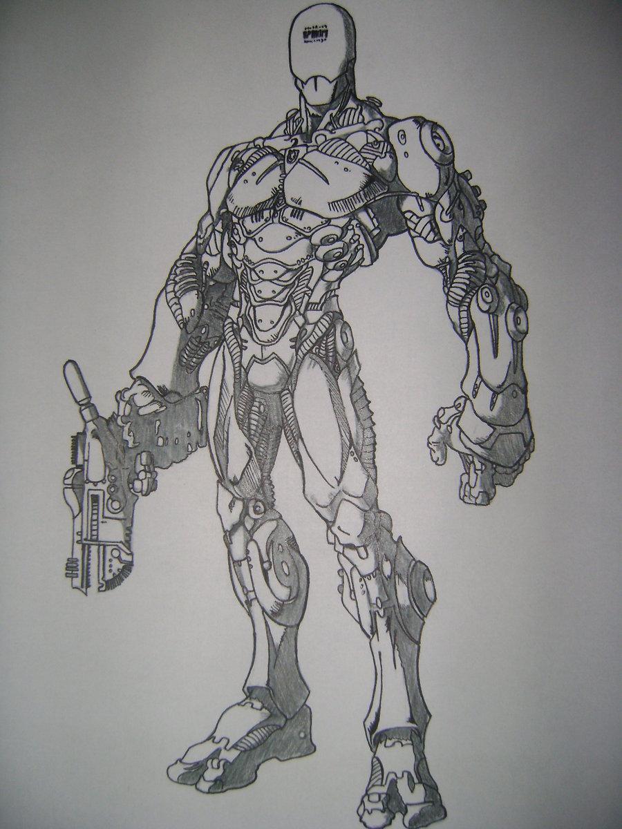 Drawn suit robot Ramalho suit ~B Robot deviantART