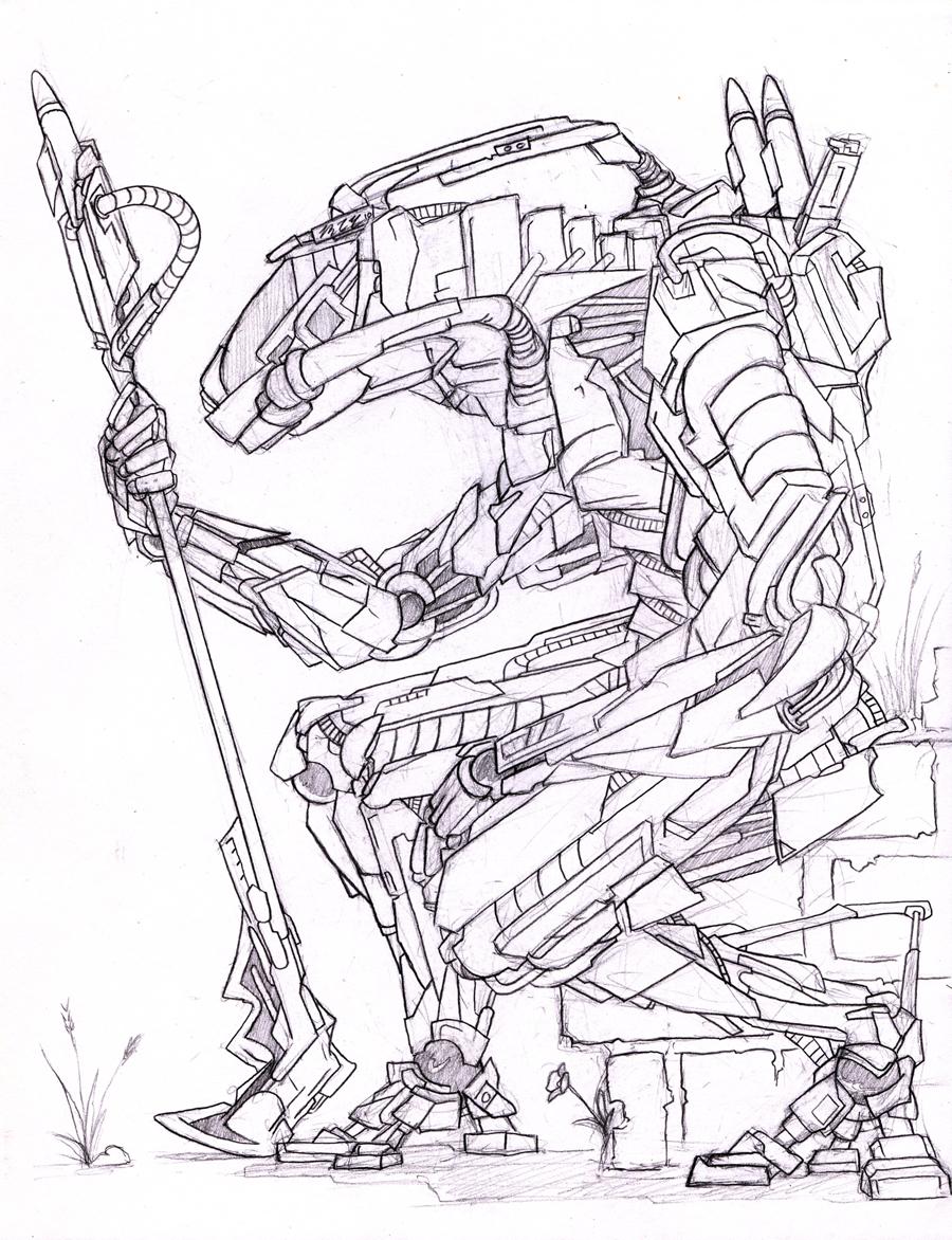 Drawn suit robot Robot robot epic drawing Google