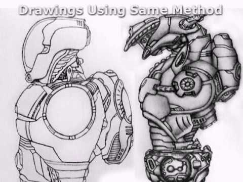 Drawn suit robot A D Drawing 's YouTube