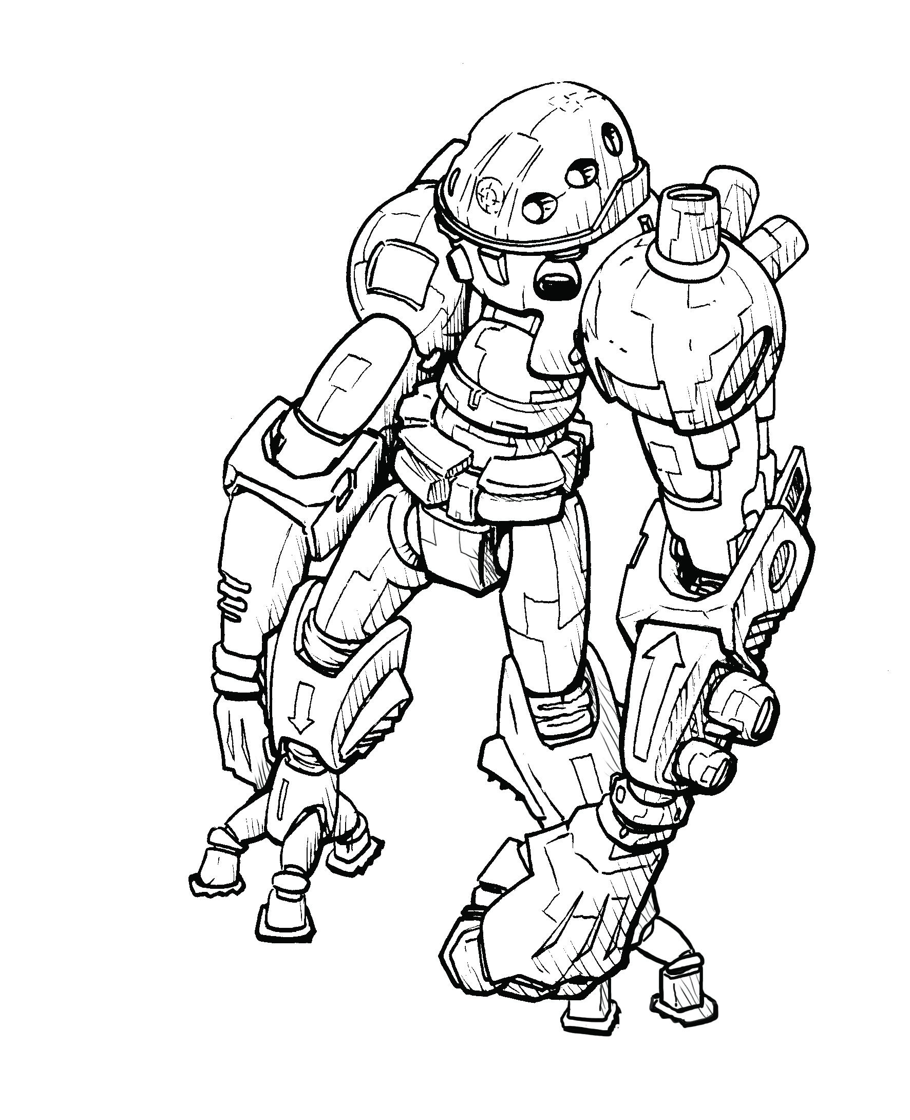 Drawn suit robot Arms! samgarlandillustrations pretend I me
