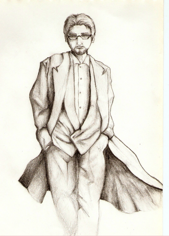 Drawn suit sketch man In Ikaemos Man on by
