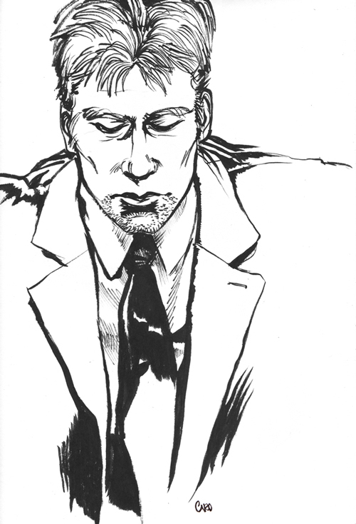 Drawn suit sketch man Mishinsilo man Ink DeviantArt mishinsilo