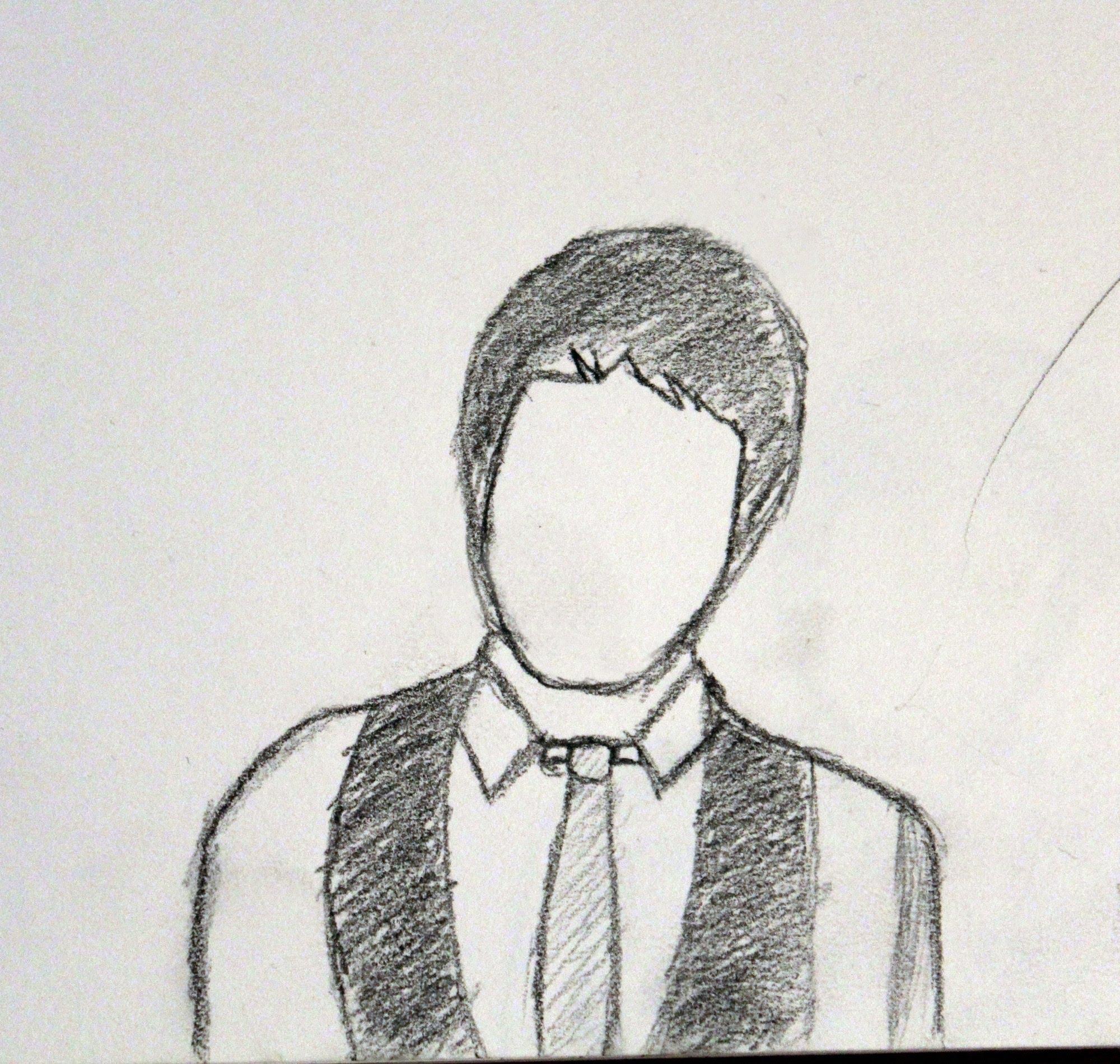 Drawn suit sketch man (Upper to How Torso) suit
