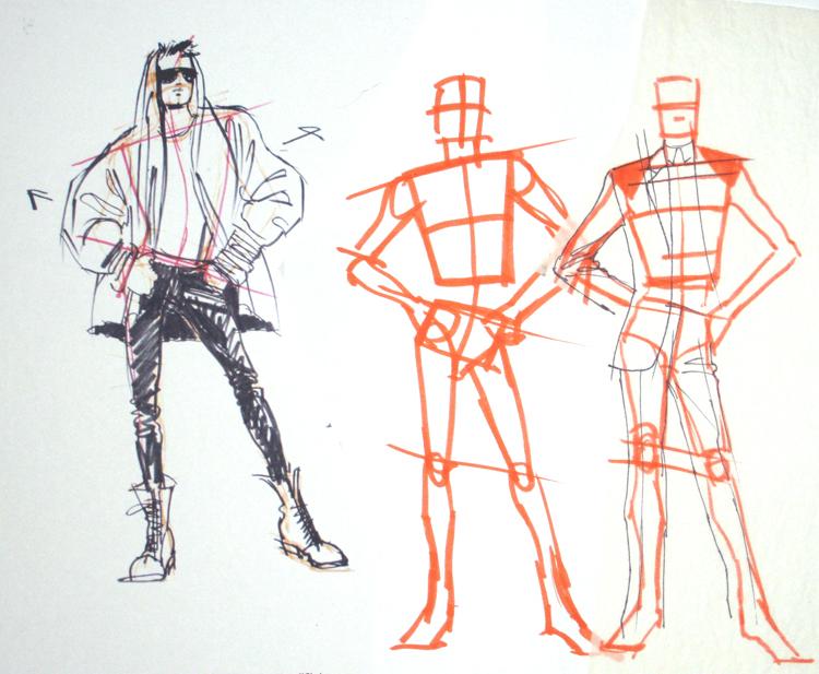 Drawn suit sketch man Parish's Drawing Blog SUITS DRAWING