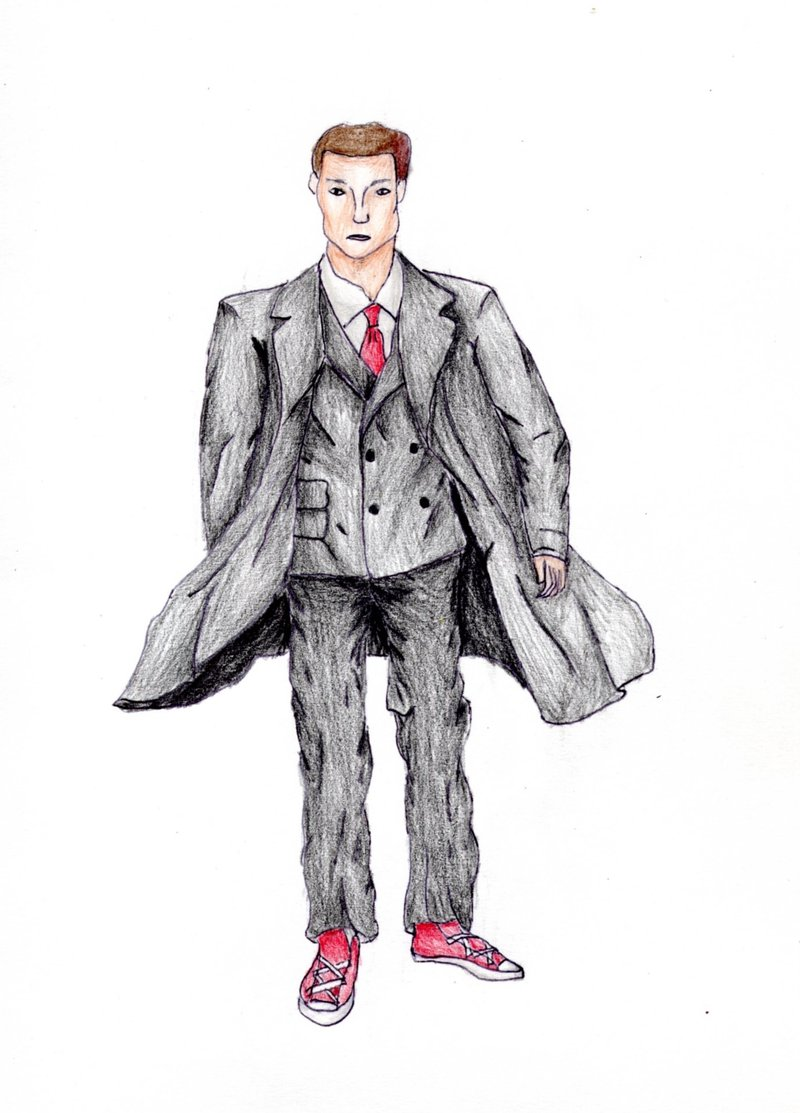 Drawn suit sketch man By in  on by