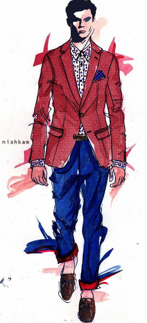 Drawn suit sketch man #Dress #Illustrator #Fashion  #Passion