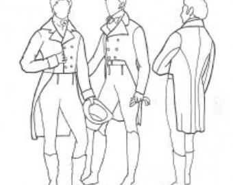 Drawn suit tailcoat Etsy Tailcoat Tailcoat by 1795