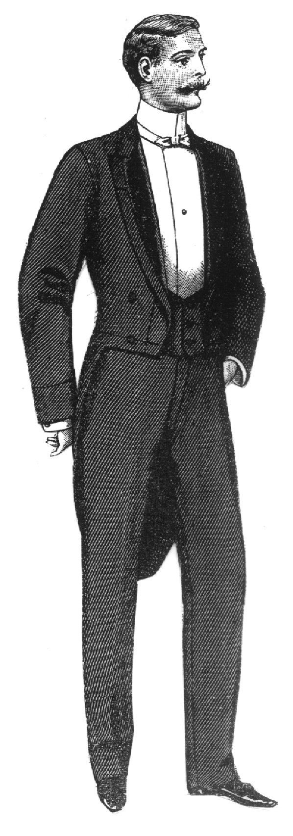 Drawn suit tailcoat Other among Men worn tailcoat
