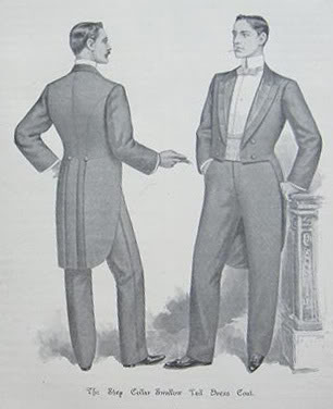 Drawn suit tailcoat Victorian to Victorian tailcoat