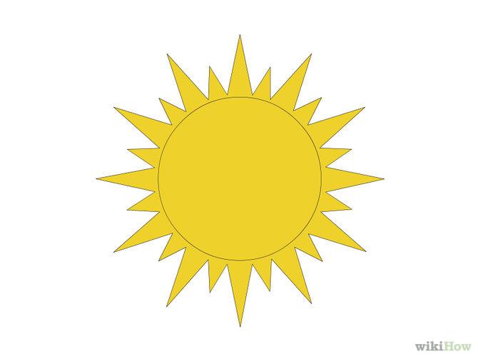 Drawn sun To 7 Draw Drawing Sun