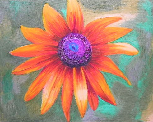 Drawn wildflower beginner Pastel Drawing Flower 00 by