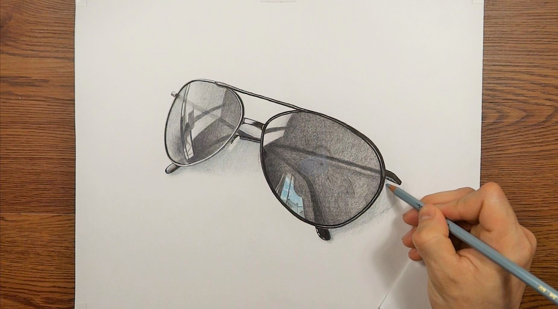 Drawn spectacles ART My Sunglasses Time 3D