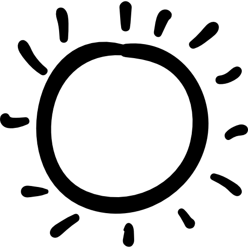 Drawn sunlight Icon weather day sun sky