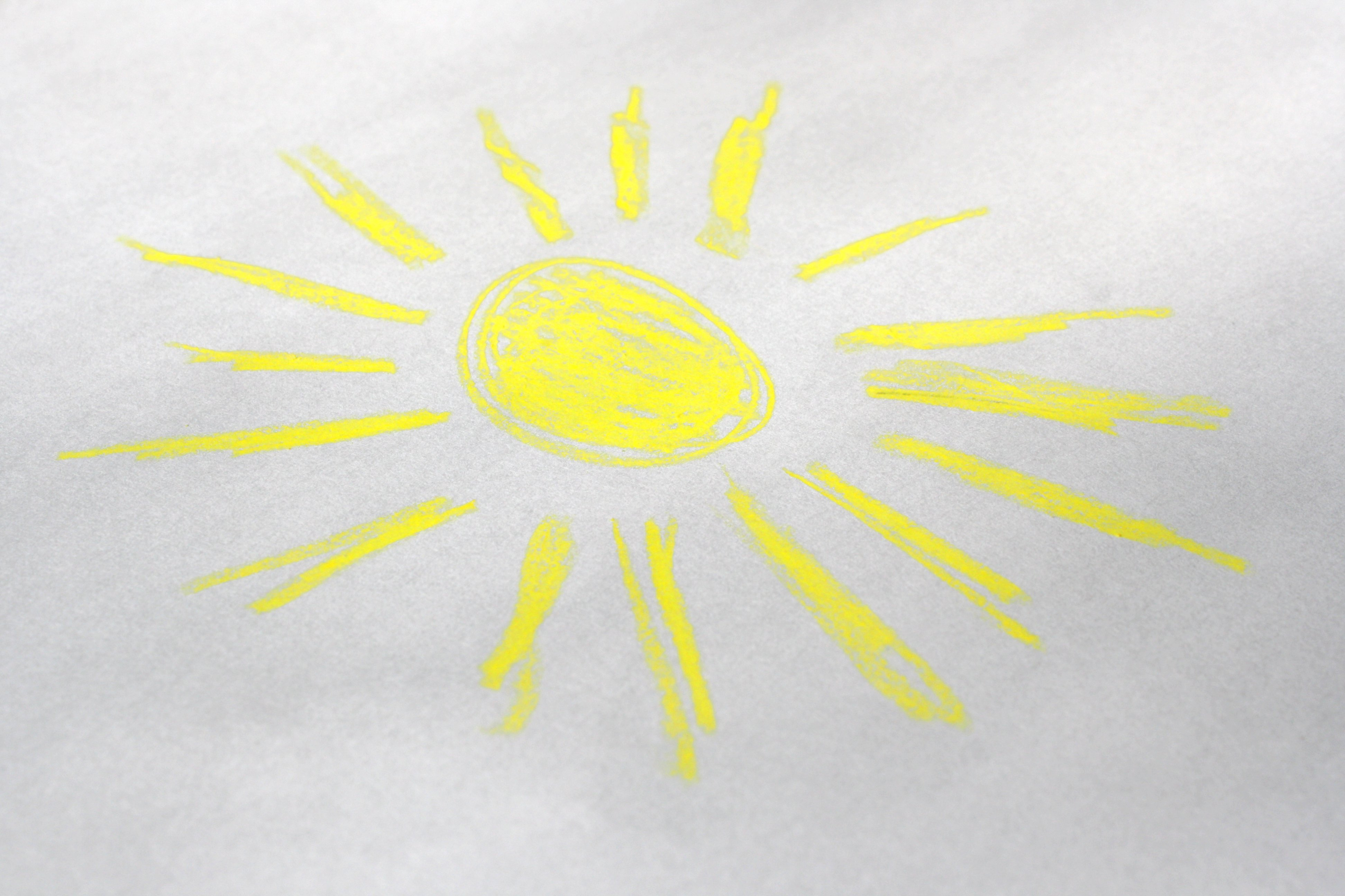 Drawn sunlight Domain Photographs Crayon Sun Photos