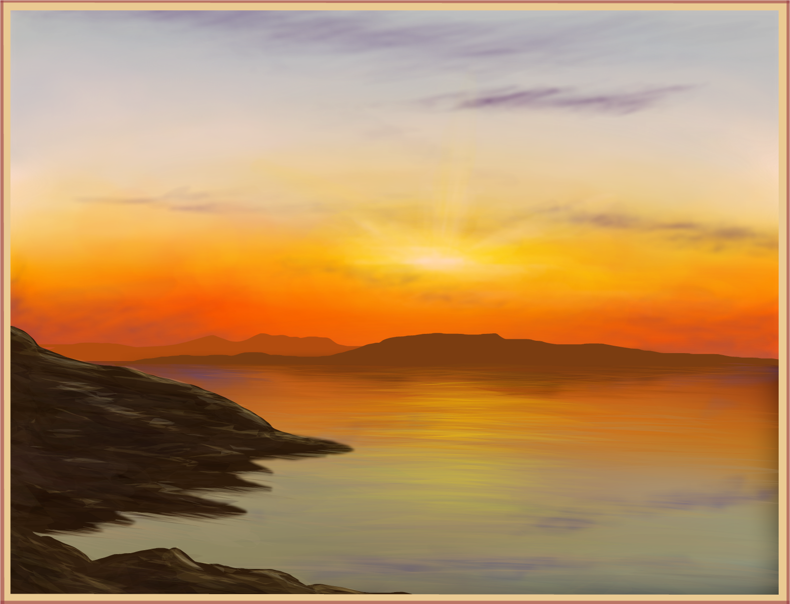 Drawn sunrise Or sunrise SketchPort drawings sunset?